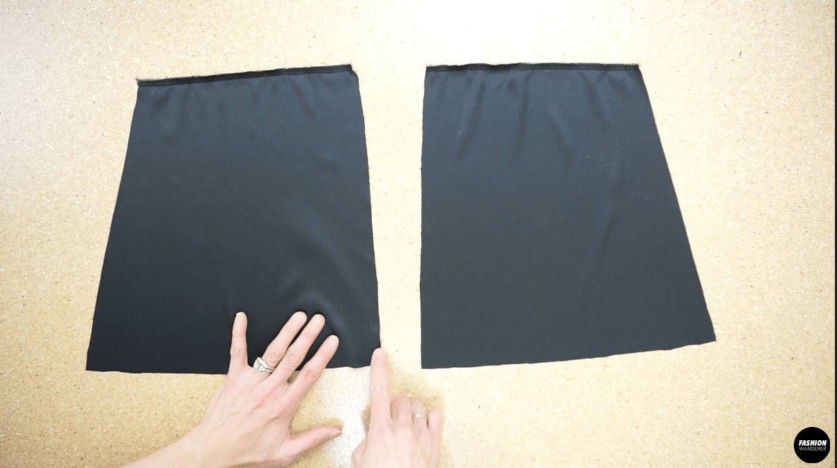 Use overlock stitch to secure the neckline of the center back opening