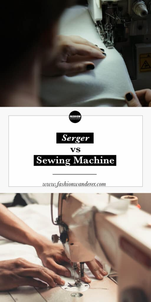 differences between serger and sewing machine