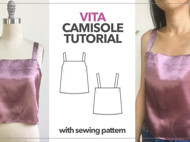 Vita Square Neck Camisole Tutorial With Sewing Pattern