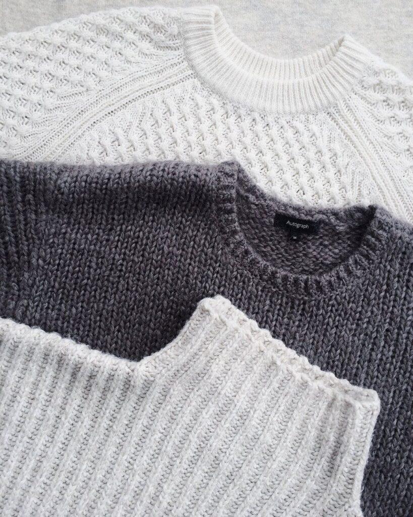 assorted turtleneck acrylic sweaters