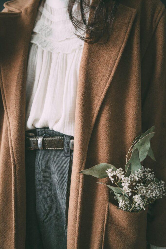 brown oversized wool coat