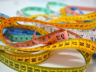 colorful sewing tape measures