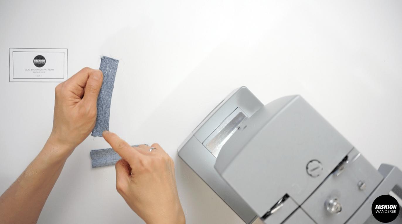Use loop turner to flip the loop inside out.