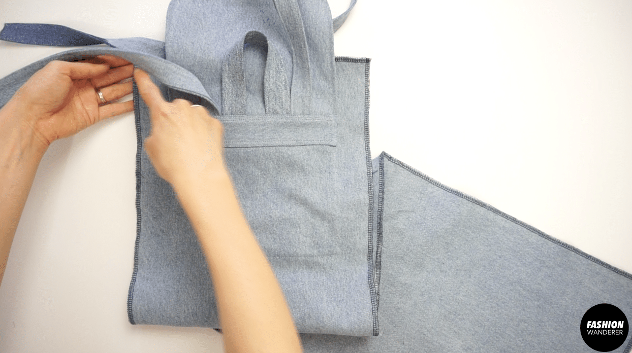 Use zigzag stitch on all four sides of the bag from front bottom to the back piece.