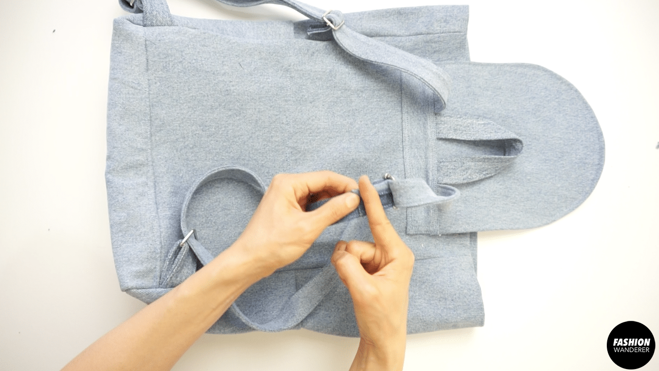"""Trim any frayed thread on the edges and ¼"""" topstitch to secure."""