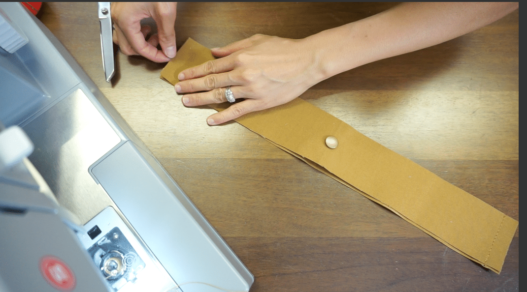 Lay facings together and sew seam allowances on both side