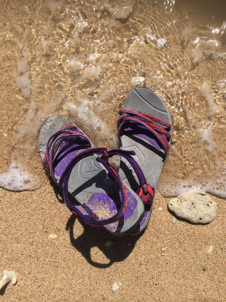 flip flop sandals on the beach
