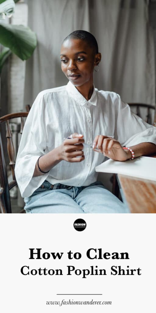 steps by step tutorial on how to clean cotton poplin shirt