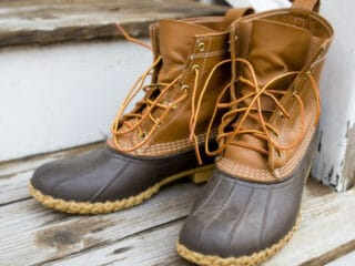 cleaned duck boots