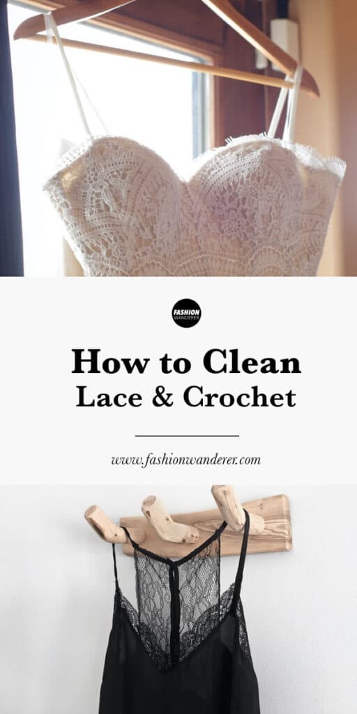 steps by step to clean lace and crochet clothes at home
