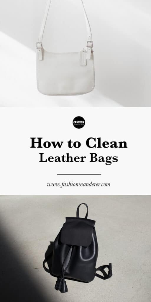 step tutorial how to clean white and black leather bag
