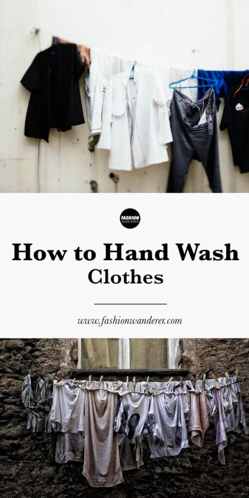 tutorial on how to hand wash clothes quickly
