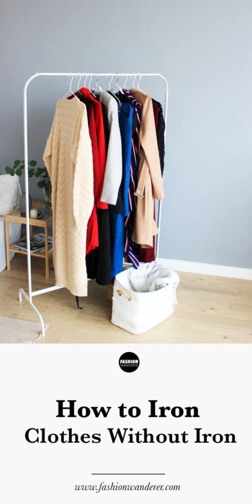 steps to iron clothes without iron