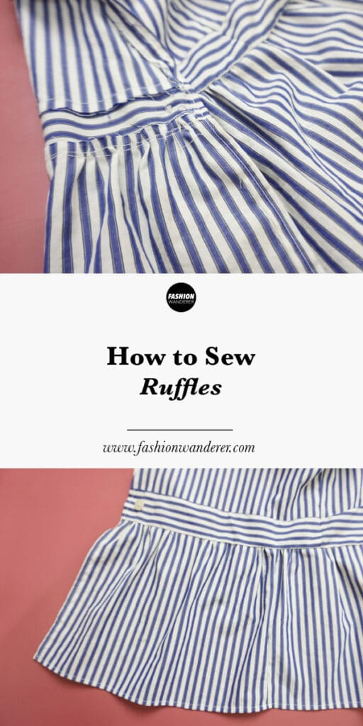 step tutorial on how to sew ruffles