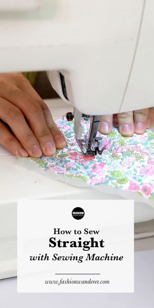 step by step tutorial to learn to sew straight with sewing machine