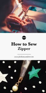 steps on how to sew invisible and regular zipper on sewing machine