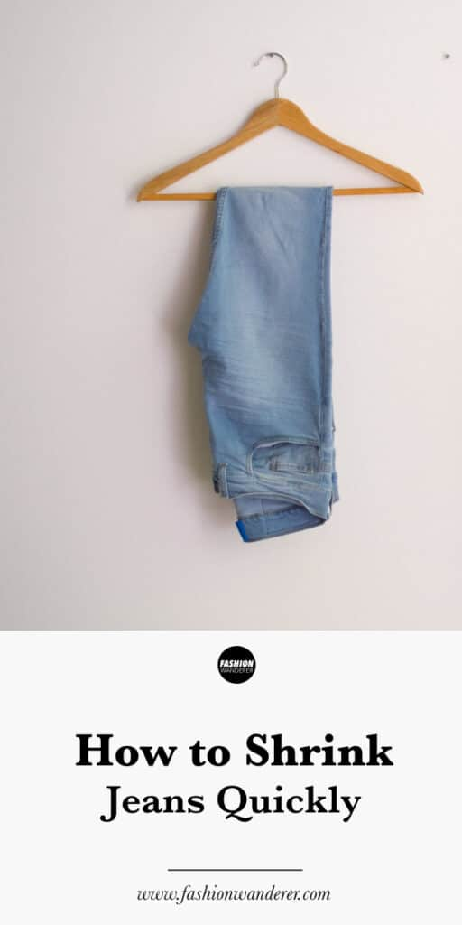 steps to shrink jeans quickly without sewing
