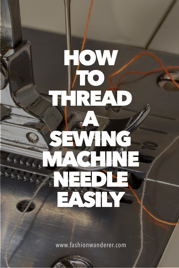 How to thread a sewing machine needle easily