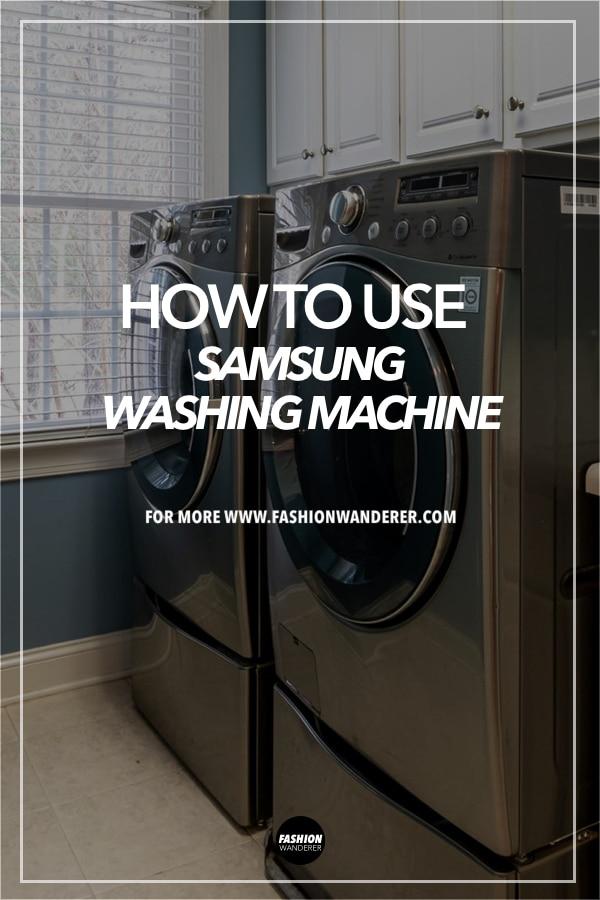 steps to use samsung washing machine