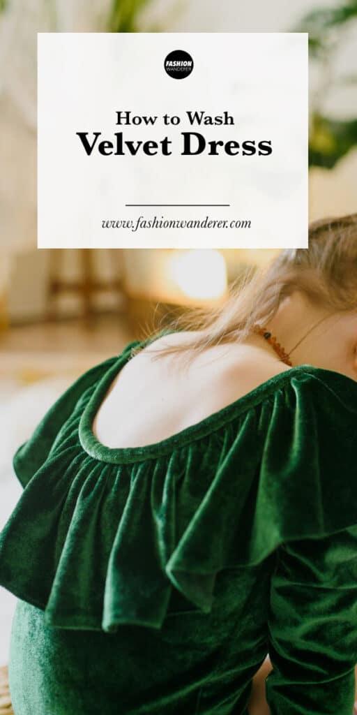steps to wash a velvet dress at home