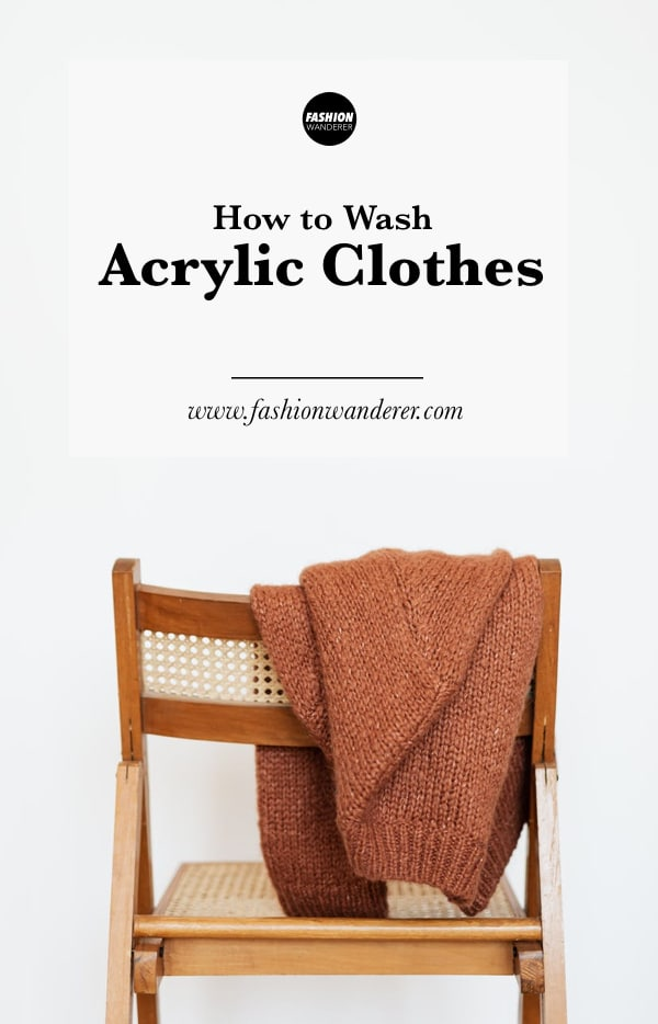 how to wash acrylic clothes