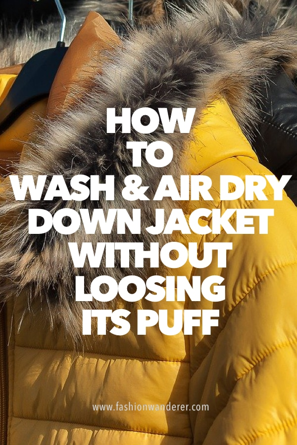 tutorial on how to wash and air dry down jacket at home