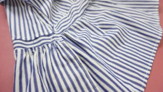 inside of ruffle finish on clothes
