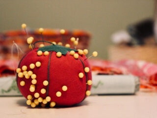 pins in a pin cushion
