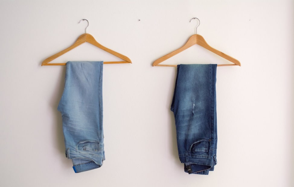 shrink jeans lengthwise