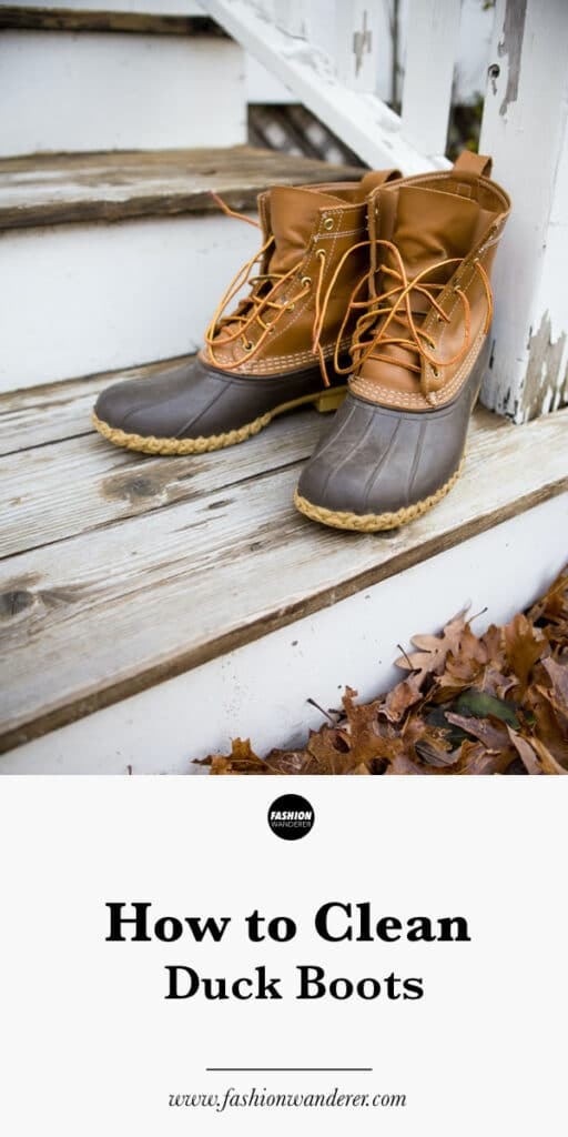 step by step tutorial on how to clean duck boots at home