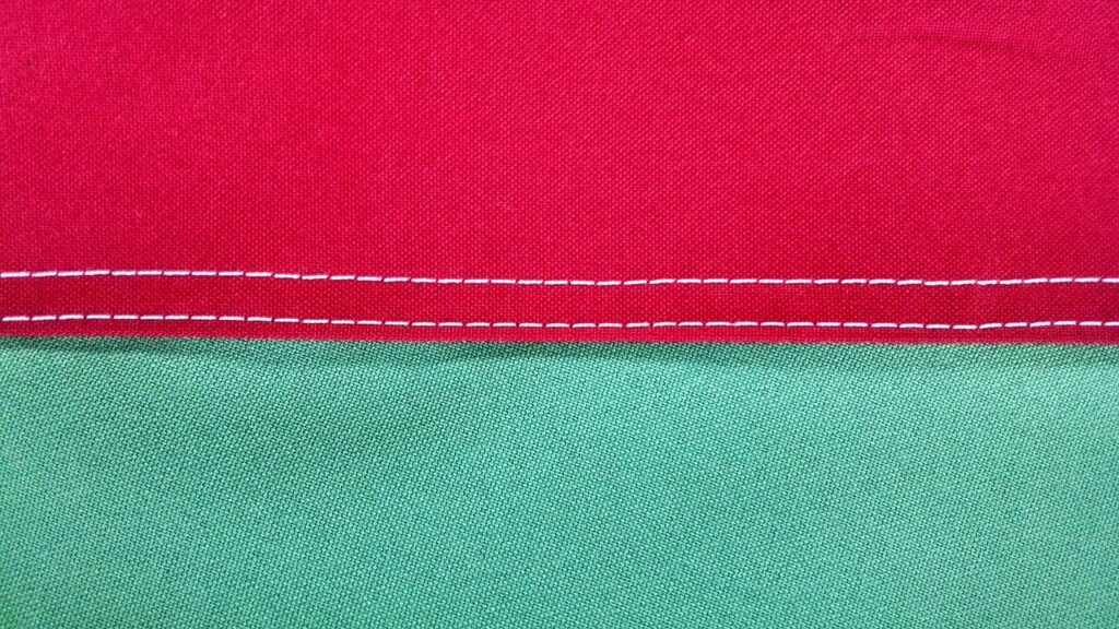correct way to straight stitch