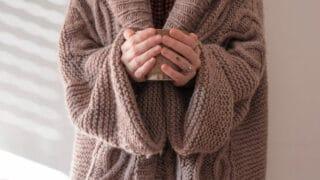 heavy sweater cardigan