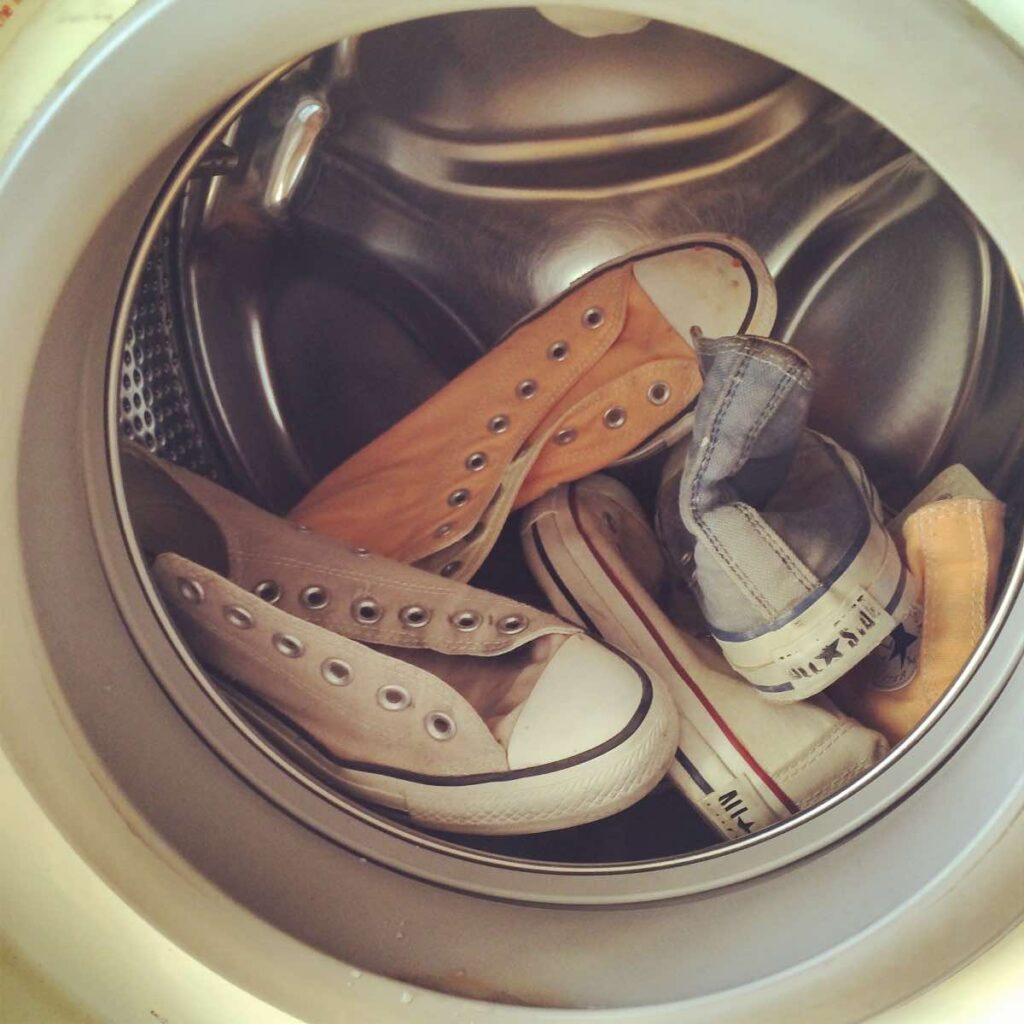 washing shoes in the washing machine