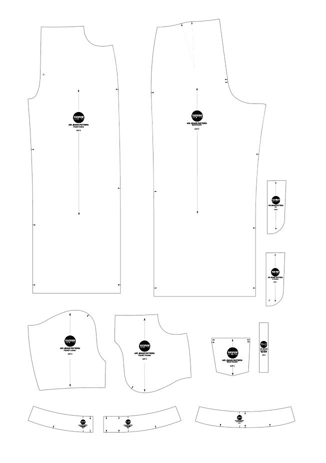 Ari denim jeans sewing pattern