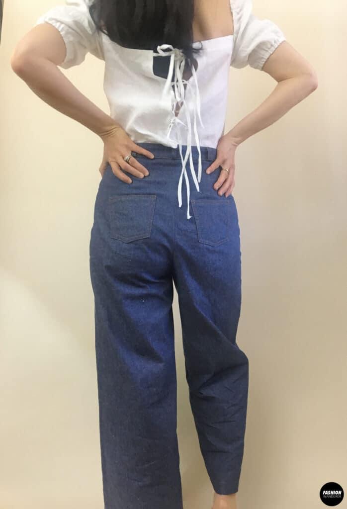 Ari denim jeans back view