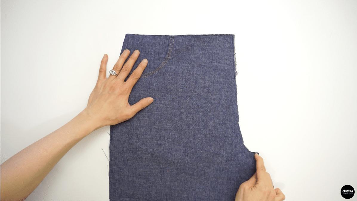 """Topstitch ¼"""" along the zipper opening"""