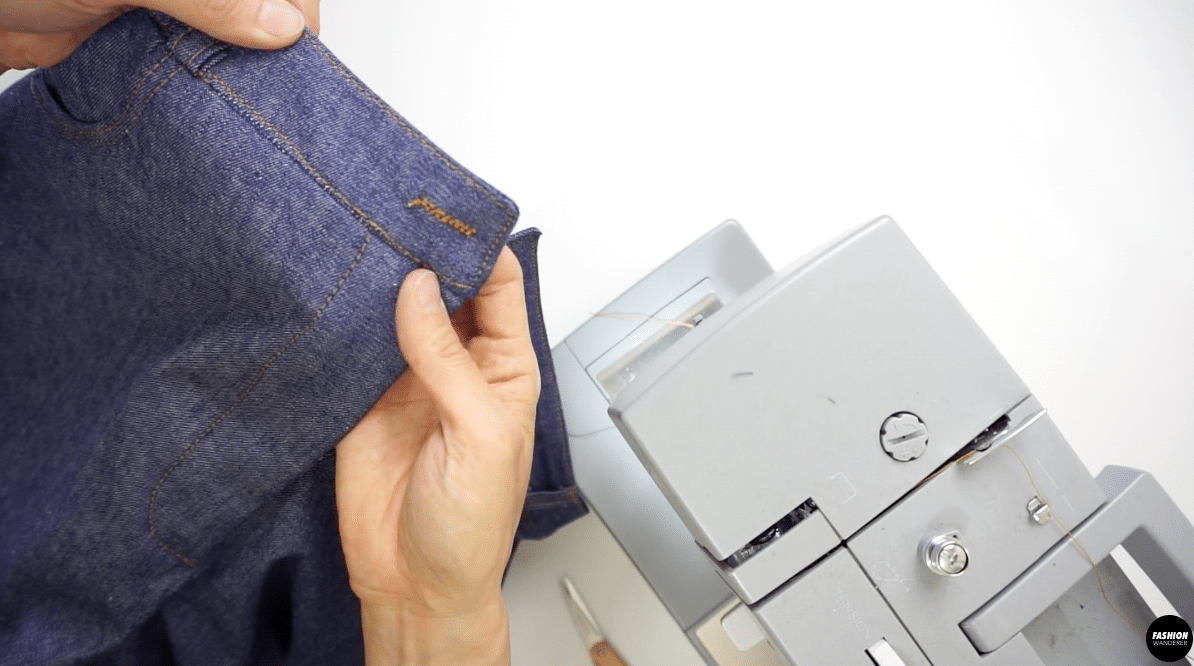 Stitch the buttonhole