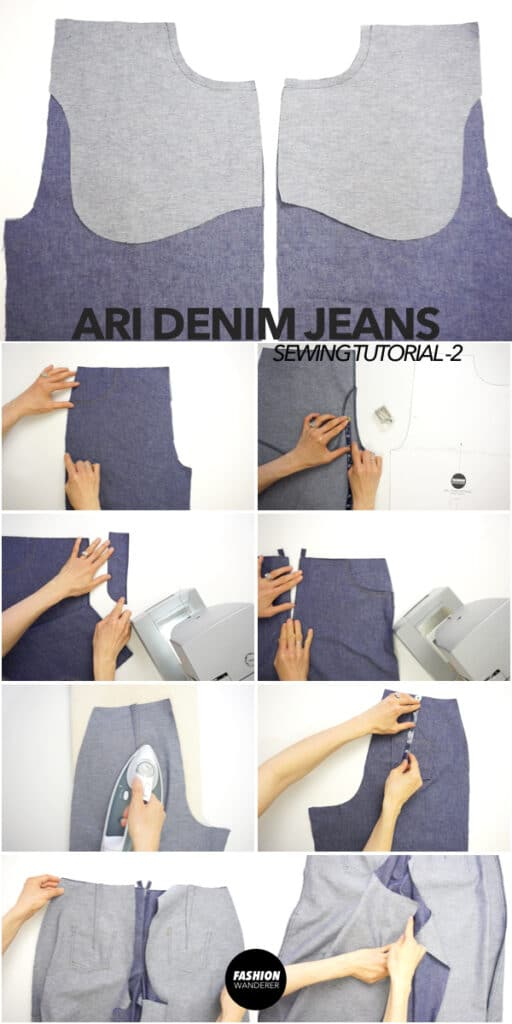 How to make DIY denim jeans with pockets