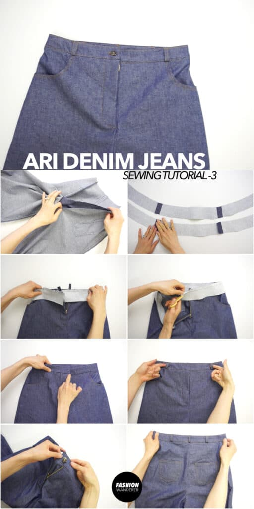 How to make DIY denim jeans with belt loops