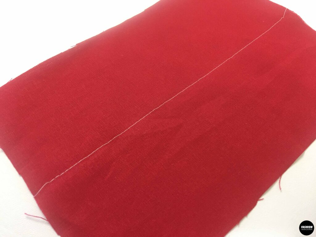 Back side of straight stitch