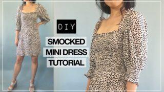 Elania smocking mini dress thumbnail