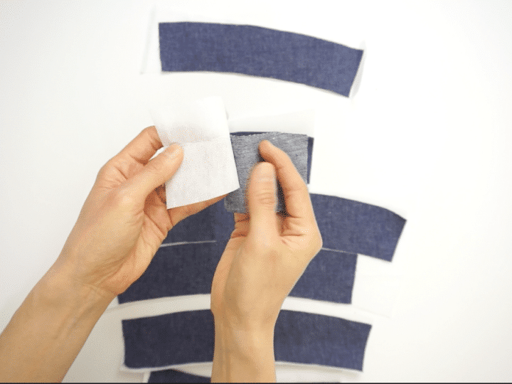 How do you use fabric as interfacing