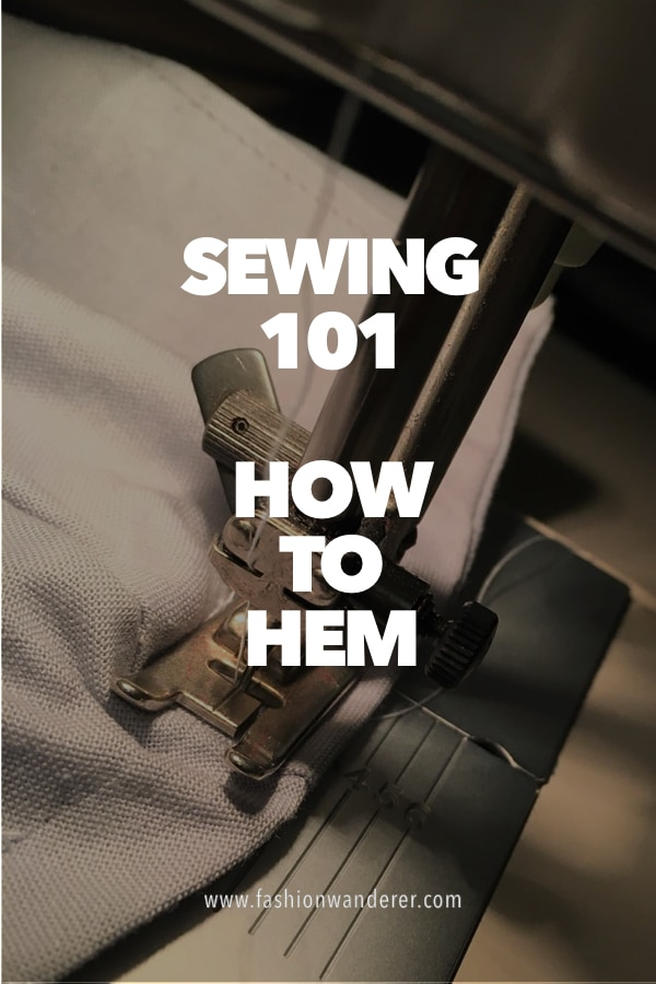 How to hem sewing tips