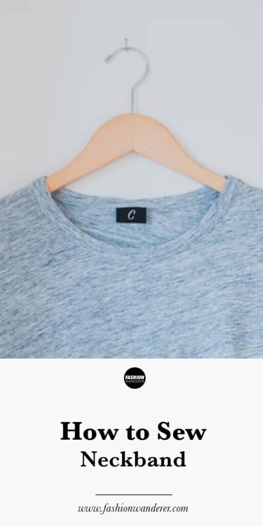 How to sew neckband