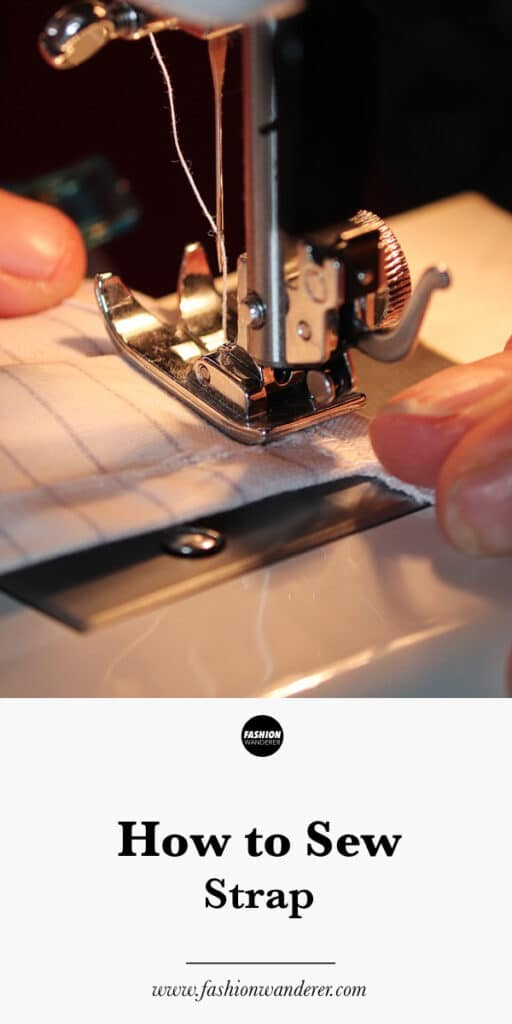 How to sew straps