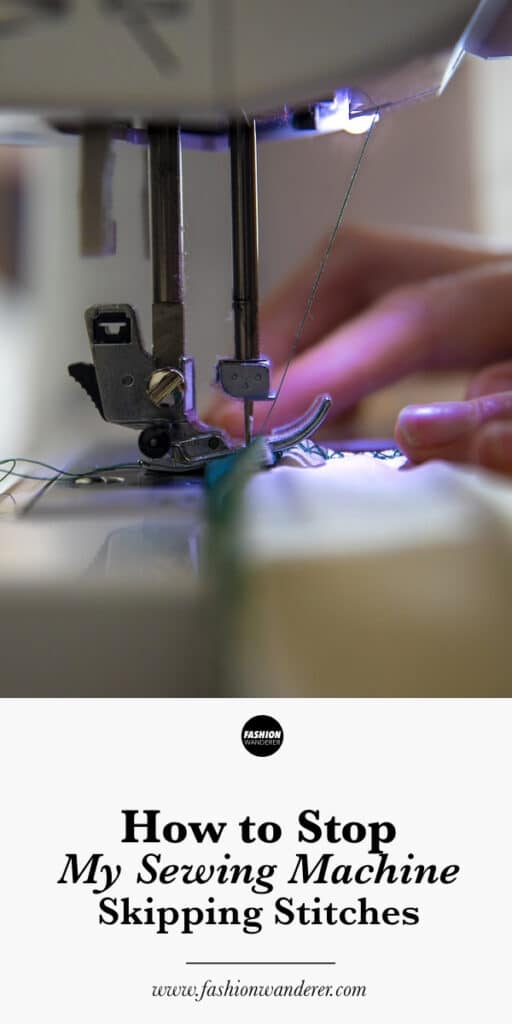 How to stop sewing machine from skipping stitches