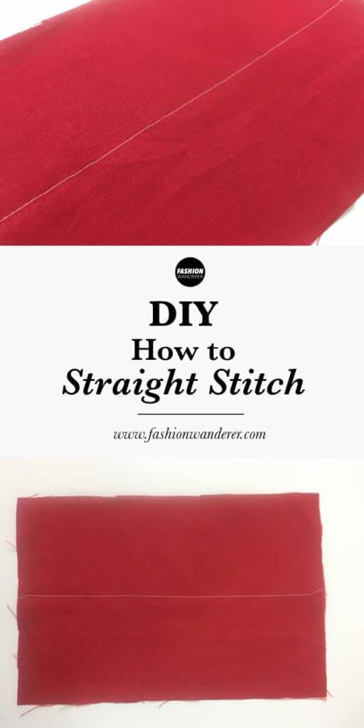 How to straight stitch