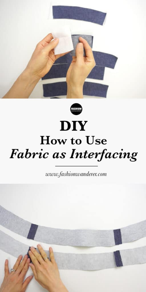 How to use fabric as interfacing