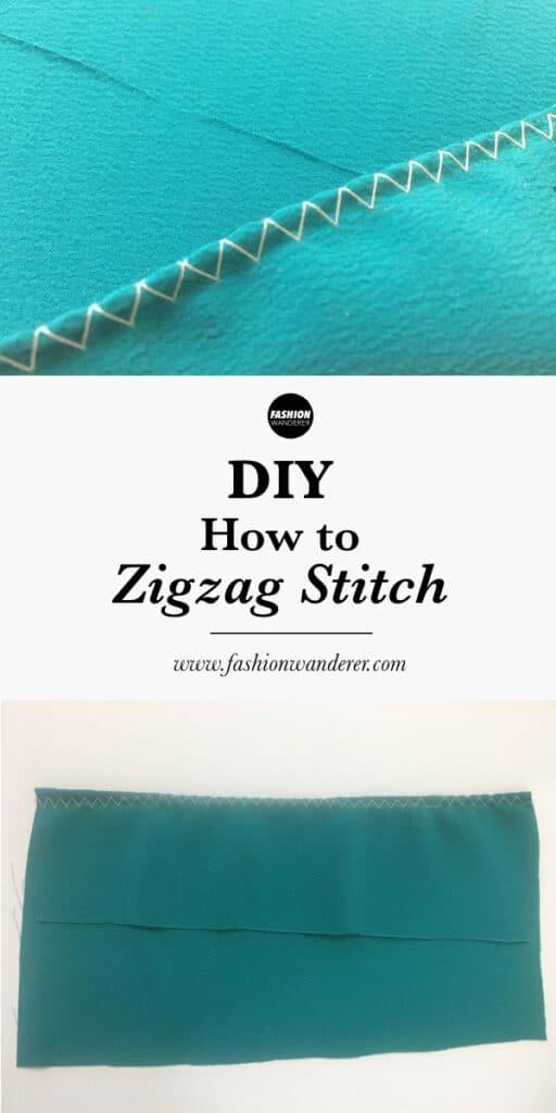 How to zigzag stitch