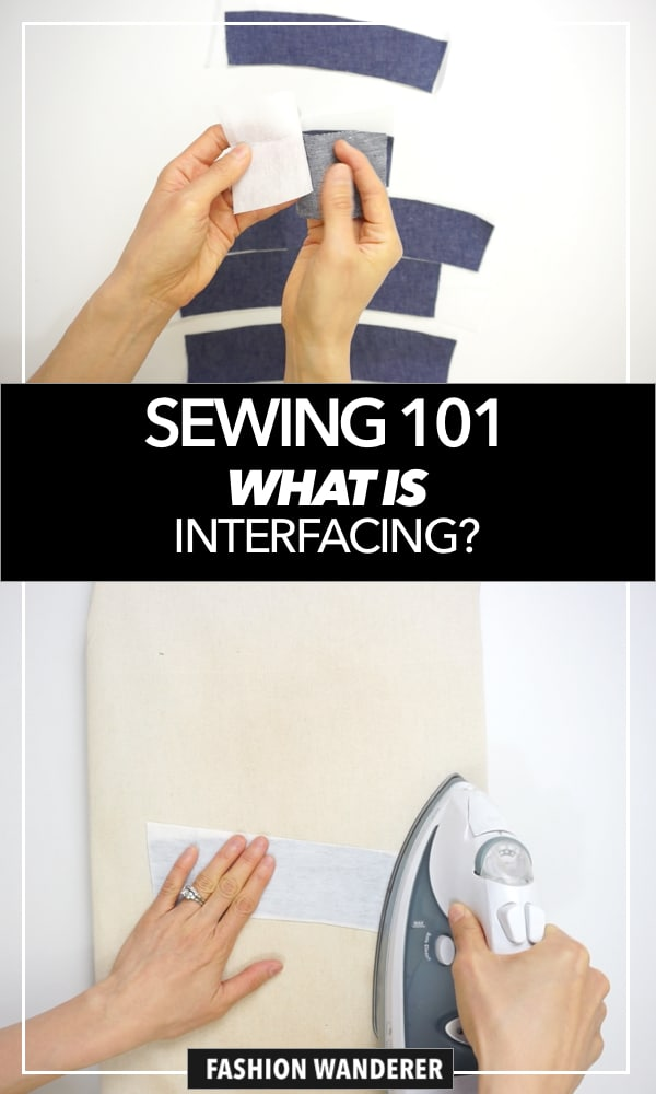 Sewing 101 - what is interfacing